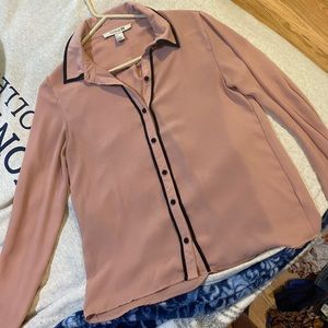 Forever 21 button up pink top